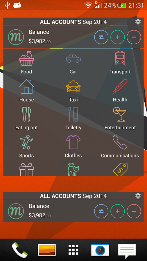 Monefy - Money Manager- screenshot