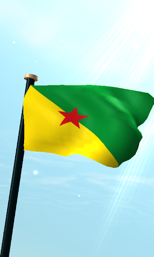 法屬圭亞那旗3D免費動態桌布