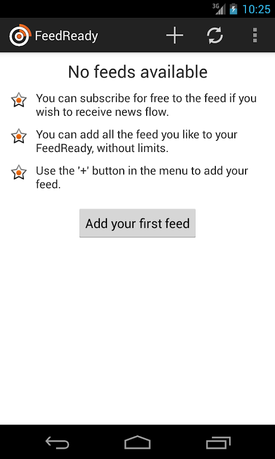 FeedReady - screenshot