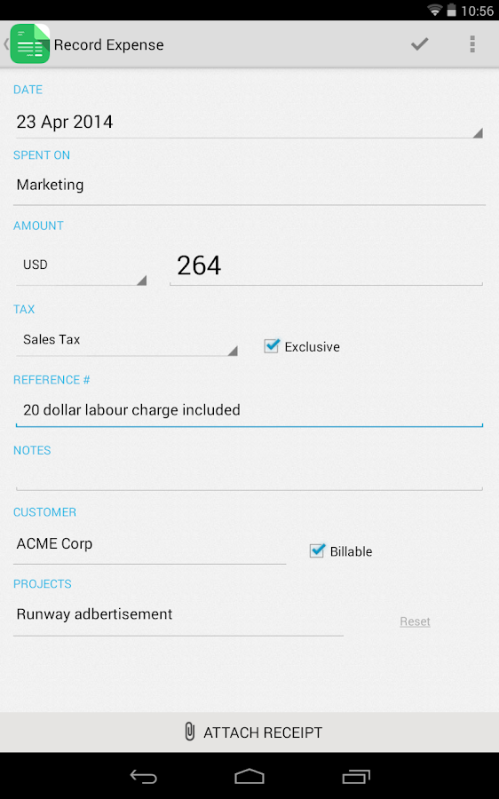 invoice time tracking zoho android apps on google play