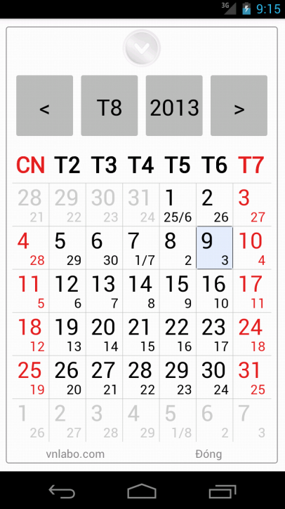 Vietnamese Calendar- screenshot