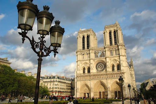 Notre-Dame-de-Paris - The iconic Notre Dame Cathedral on Ile de la Cite in Paris.