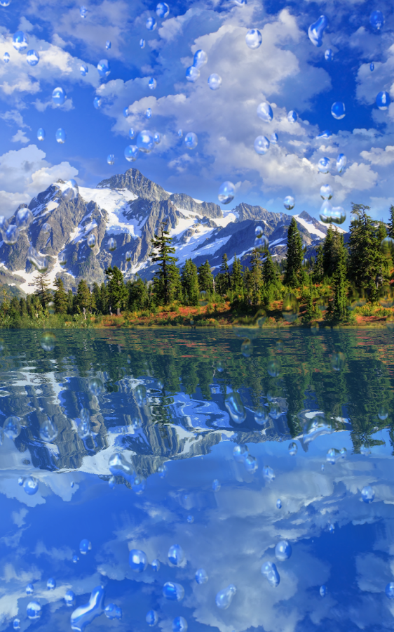Gota de lluvia fondo animado aplicaciones android en for Fondos animados de agua