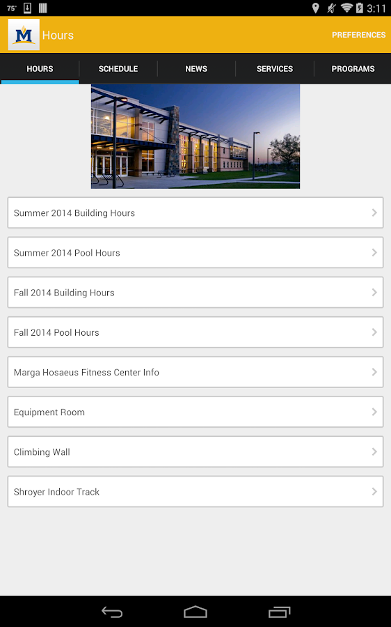 Montana State University Rec - screenshot