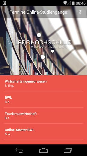 Online-Studium Jade Hochschule