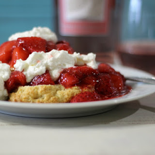 Pink Moscato Infused Strawberry Shortcake