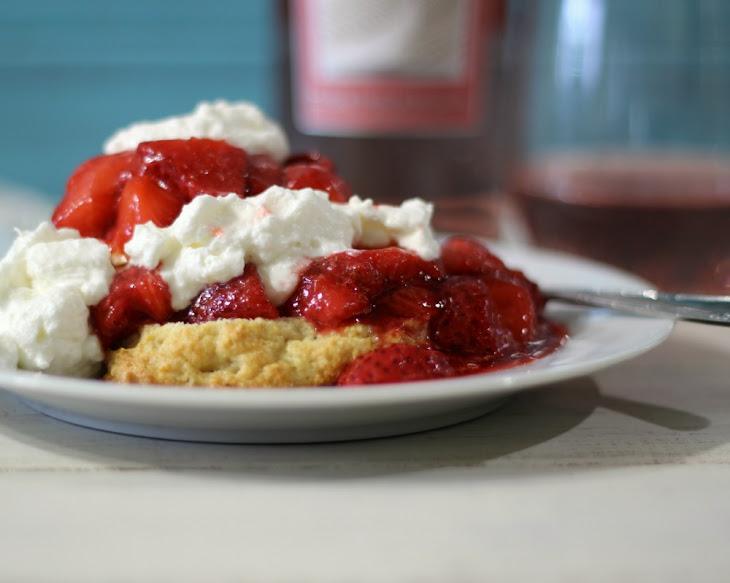 Pink Moscato Infused Strawberry Shortcake Recipe