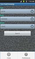 Screenshot of Car Fuel Economy