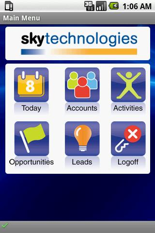 SkyMobile CRM- screenshot