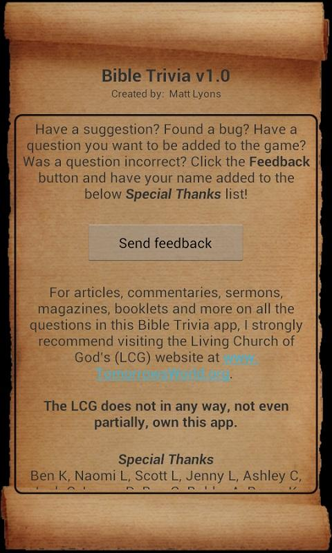 Bible Trivia Pro - screenshot