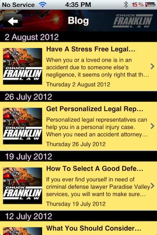 Chuck Franklin Law - screenshot