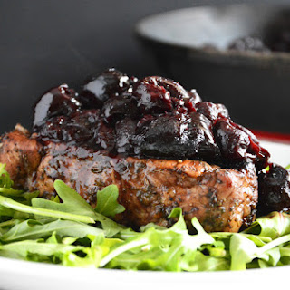Sage Pork Chops with Cherry Balsamic Glaze Recipe
