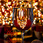 Happy New Year by Karen Celella - Public Holidays New Year's Eve ( wine, lights, reflection, new year, glass, christmas, gold, new years eve, new, year )