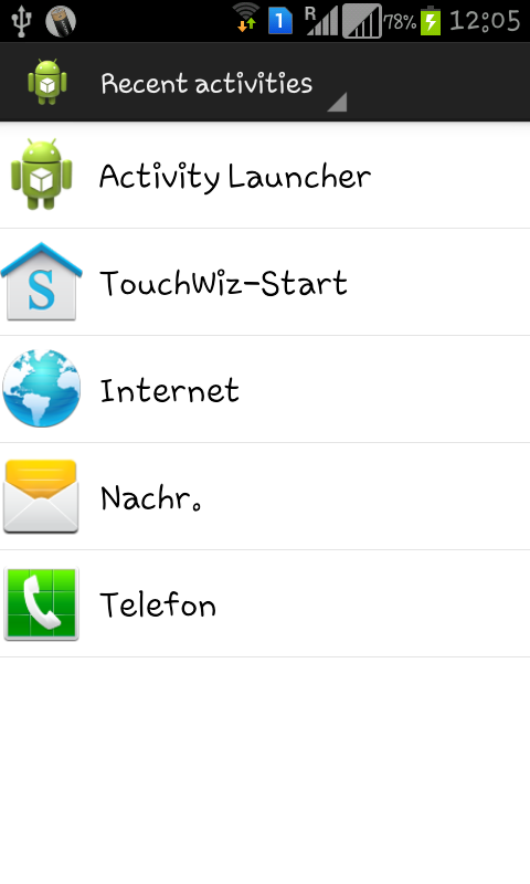 Activity Launcher- screenshot