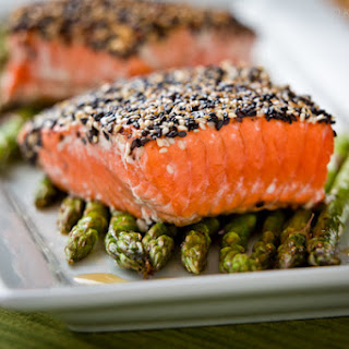 Black and White Sesame Salmon