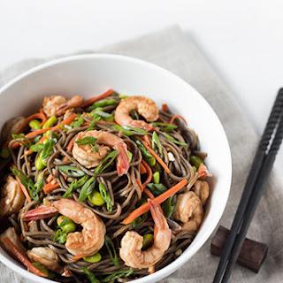 Soba Noodles with Shrimp.