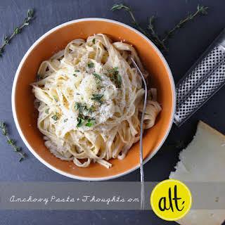 Spaghetti with Lemony Anchovy Sauce.