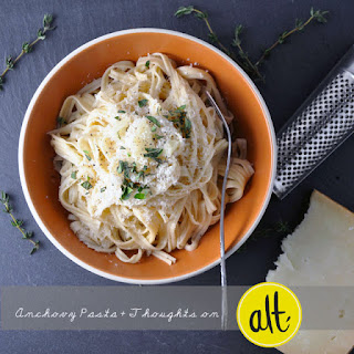 Spaghetti with Lemony Anchovy Sauce.