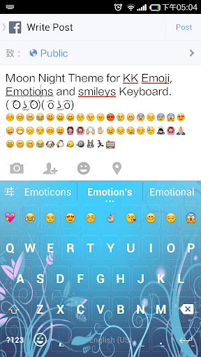 Moon Night Emoji Keyboard