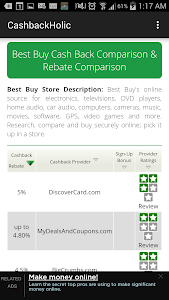 Cashback Comparison Tool screenshot 1