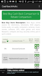 Cashback Comparison Tool- screenshot thumbnail
