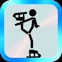 figure skating Stick man icon