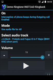 Demo Ringtone INSTEAD Ringback- screenshot thumbnail