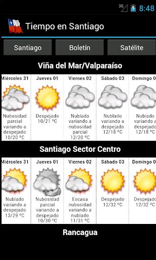 Tiempo en Santiago
