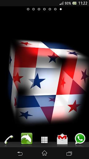 3D Panama Cube Flag LWP