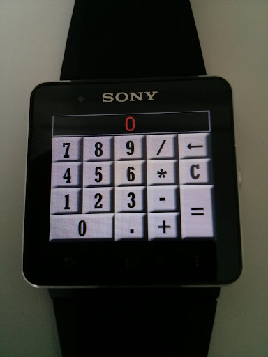 Calculator for SmartWatch 2