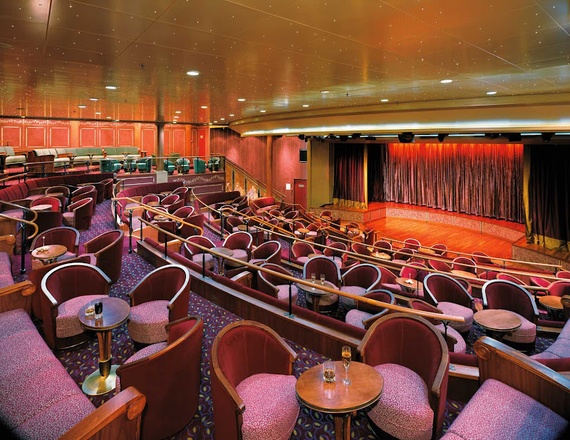 The plush theater aboard Silver Shadow is big enough for Broadway-style shows. Performances take place daily.