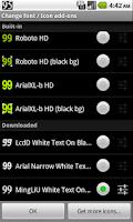 Screenshot of BN Pro White Text on Black