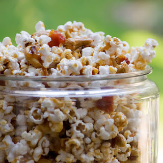 Bacon Cashew Caramel Popcorn.