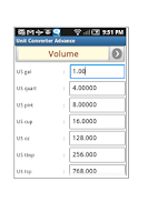 Screenshot of Quick Unit Converter
