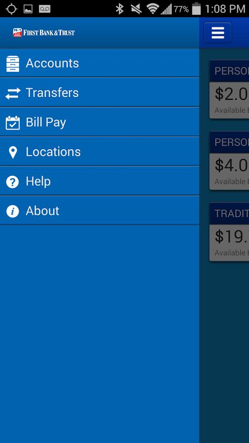 First Bank&Trust Smart Banking - screenshot