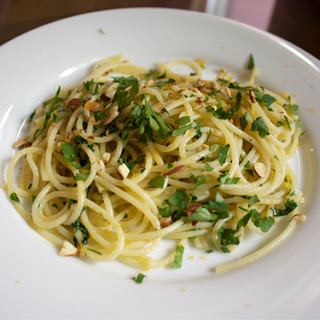 Spaghetti with Bottarga and Almonds