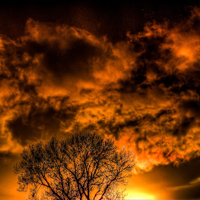 Clouds On Fire by Steve Evans - Landscapes Cloud Formations ( , noordhoek, south africa, noordhoekchallenge )