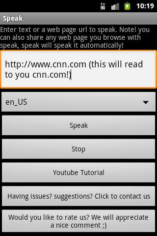Speak - screenshot