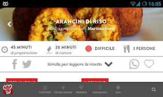 Screenshot of Ricette per Cucinare