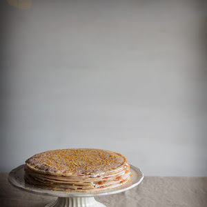 Crepe and Salmon Savory Pie