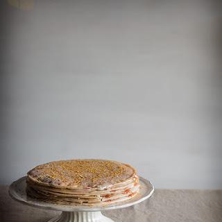 Crepe and Salmon Savory Pie.