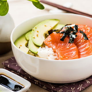 Salmon Sashimi Bowl with Avocado