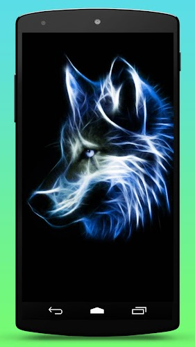 Neon Wolf Live Wallpaper Android App Screenshot