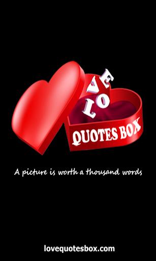 Love Quotes Box
