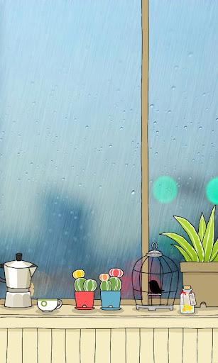 CUKI Theme Rainy Window Wall