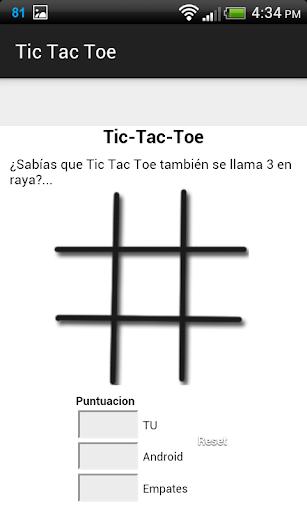 Tic Tac Toe Clasico Juego