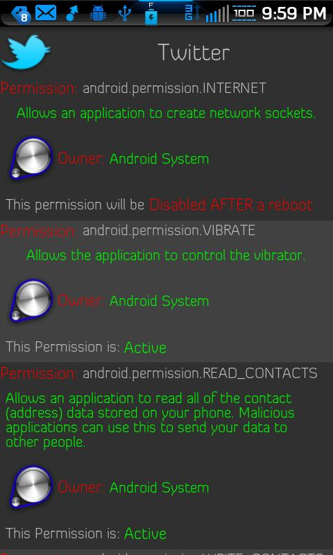 Permissions Denied - screenshot