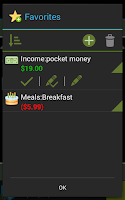 Screenshot of Expenses Recorder