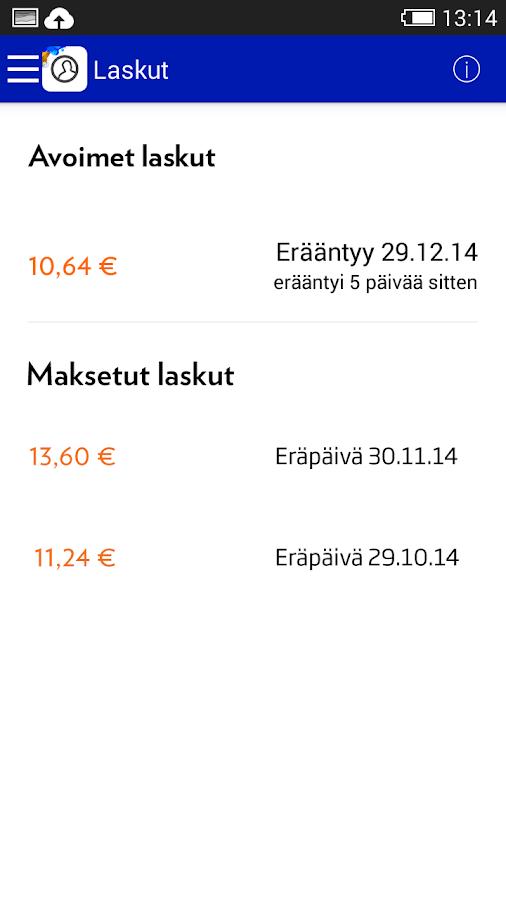 Mobiili OmaElisa - screenshot