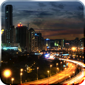 City at Night Live Wallpaper icon